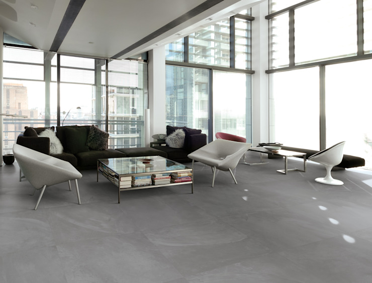 Architect Resin London Smoke 80x80 Amb Living di Emilceramica Group