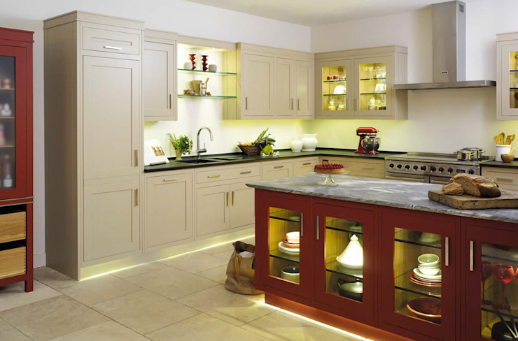 Grange México Built-in kitchens Solid Wood Red