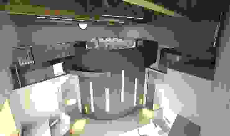 Infografía Salas multimedia de estilo moderno de URBAQ arquitectos Moderno