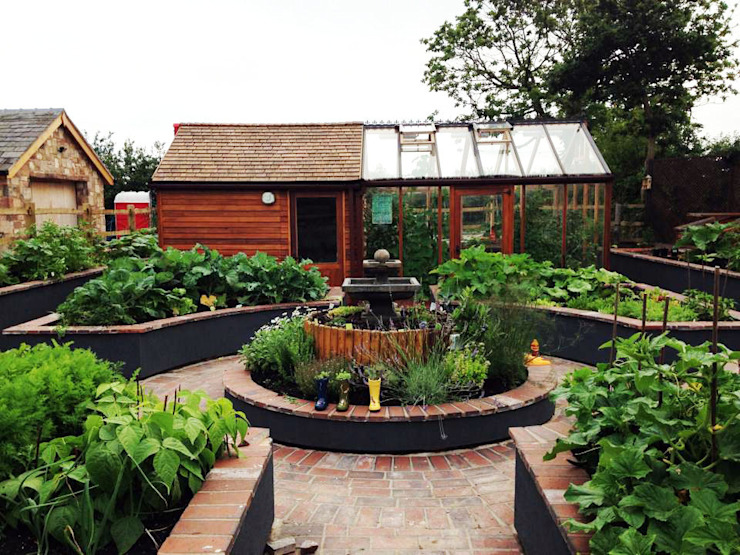 Kitchen Garden, Wirral Estilo rural de Native Landscape Design Rural