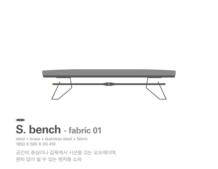 MP S.bench – fabric 01 by Metal Play