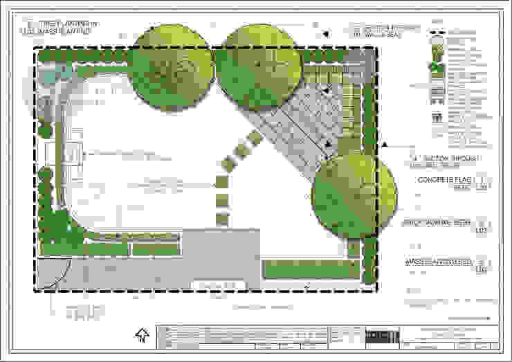 Yorkstone Garden Country style garden by Native Landscape Design Country
