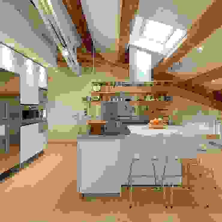 Cucina Moderna Con Tetto In Legno.Travi In Legno E Arredamento Moderno Bello E Possibile