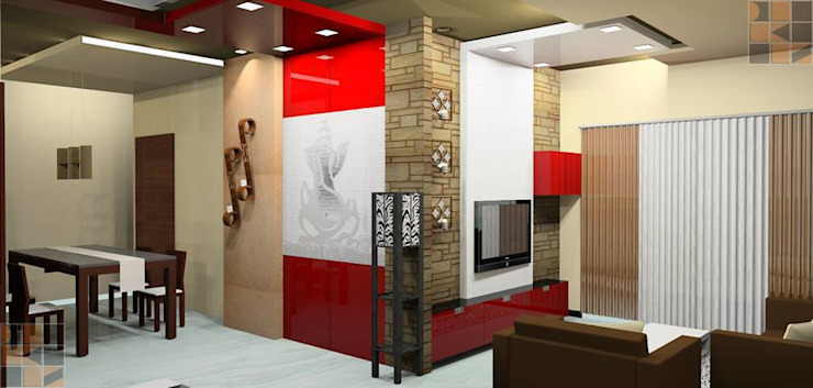 Proposed Residential Interiors: modern  by Quadrantz Consultants,Modern