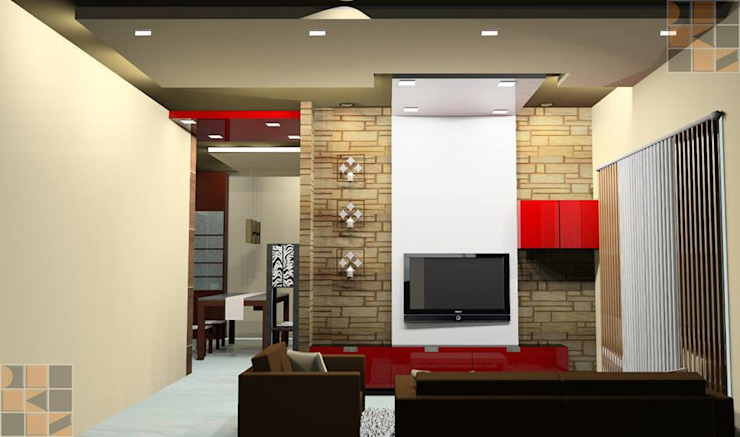 Proposed Residential Interiors for Ms. Brindha, Chennai: modern  by Quadrantz Consultants,Modern