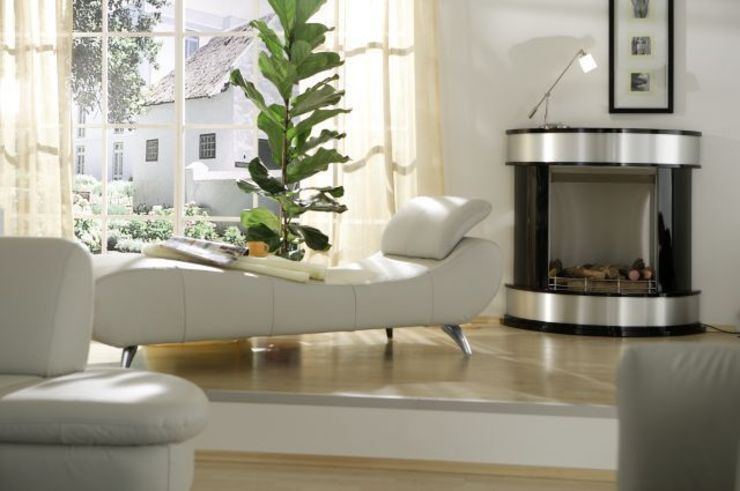 Kamin-Design GmbH & Co KG Living roomFireplaces & accessories MDF Black