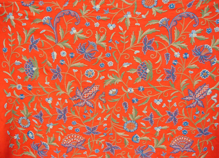 Crewel Work Fabrics: asian  by Crewel Fabric From Zia Enterprises,Asian