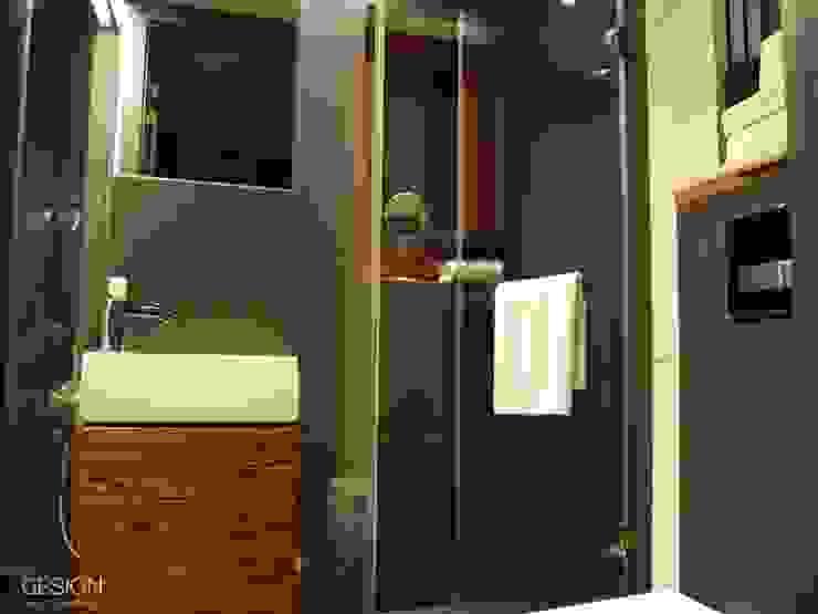 Projekt Koninko Nowoczesna łazienka od kabeDesign kasia białobłocka Nowoczesny