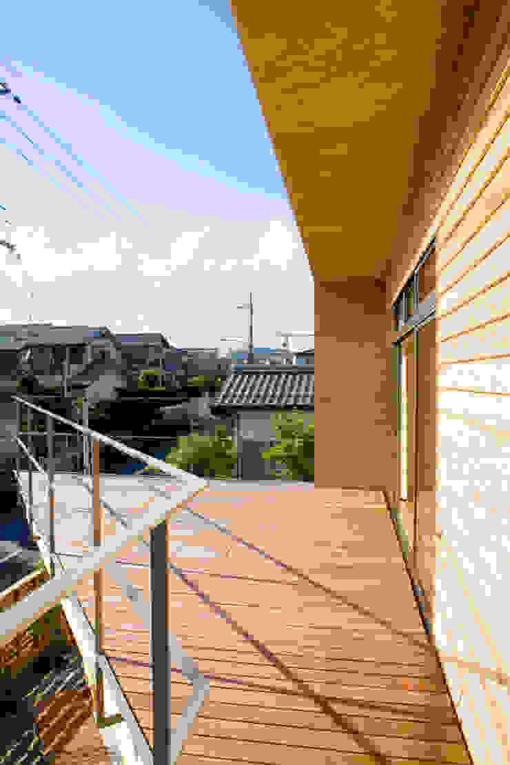 2階テラス オリジナルデザインの テラス の 松下建築設計 一級建築士事務所/Matsushita Architects オリジナル