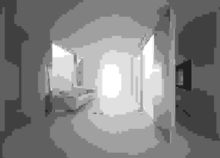 House in Komae モダンデザインの リビング の Makoto Yamaguchi Design モダン