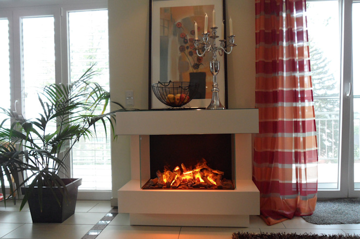 Kamin-Design GmbH & Co KG Living roomFireplaces & accessories Iron/Steel White