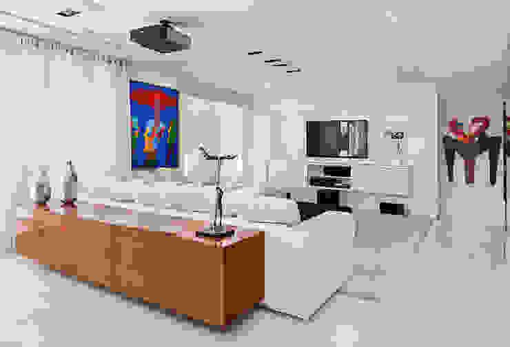 Cliente F Salas de estar modernas por Link Interiores Moderno