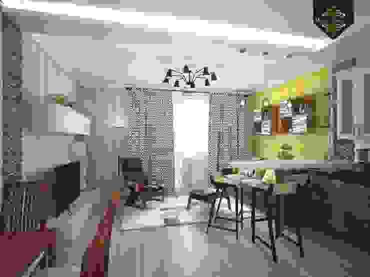 Весенний интерьер Гостиные в эклектичном стиле от Decor&Design Эклектичный