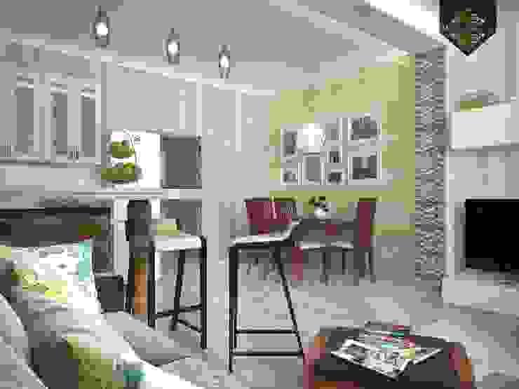 Весенний интерьер Столовая комната в эклектичном стиле от Decor&Design Эклектичный