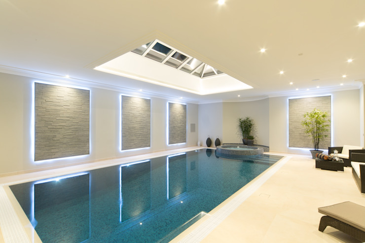 Swimming pool Piletas modernas: Ideas, imágenes y decoración de Flairlight Designs Ltd Moderno