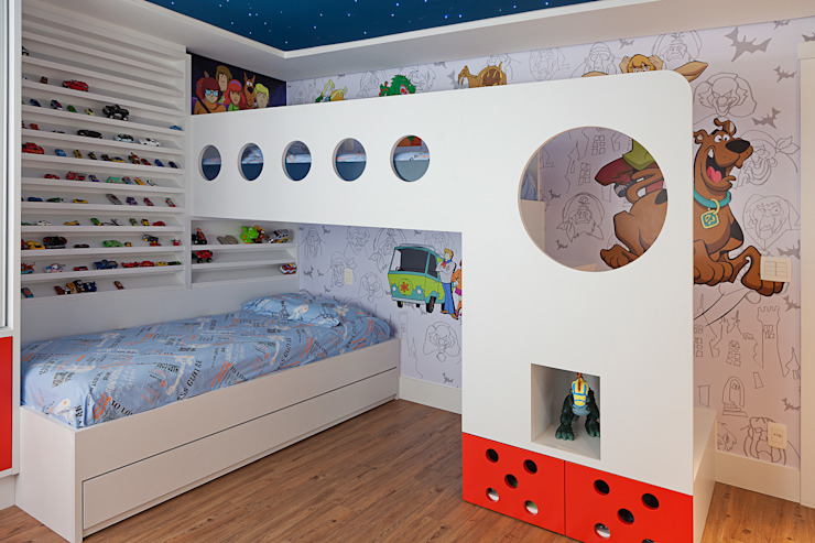 Nursery/kid's room by Link Interiores,