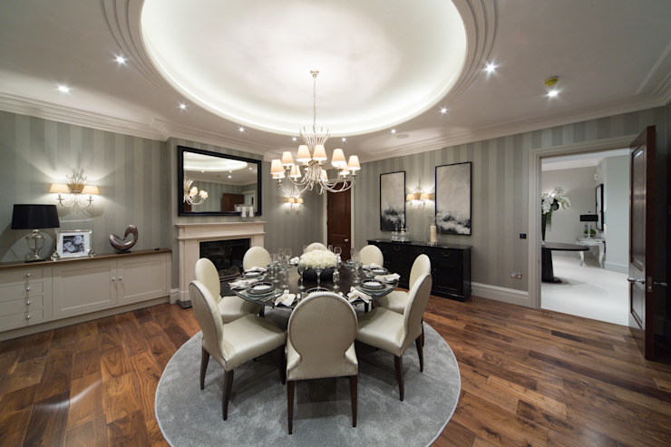 Flairlight Project 1 Oxshott, Tudor House Modern dining room by Flairlight Designs Ltd Modern