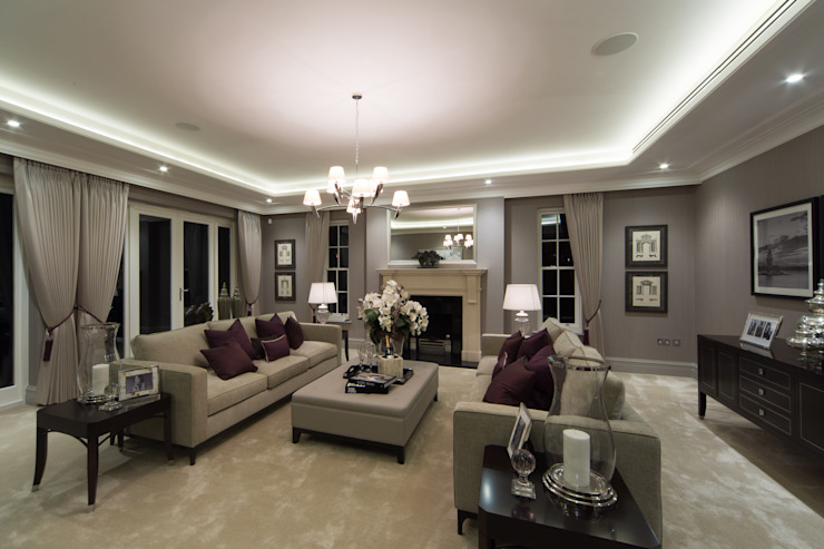 Flairlight Project 1 Oxshott, Tudor House Modern living room by Flairlight Designs Ltd Modern