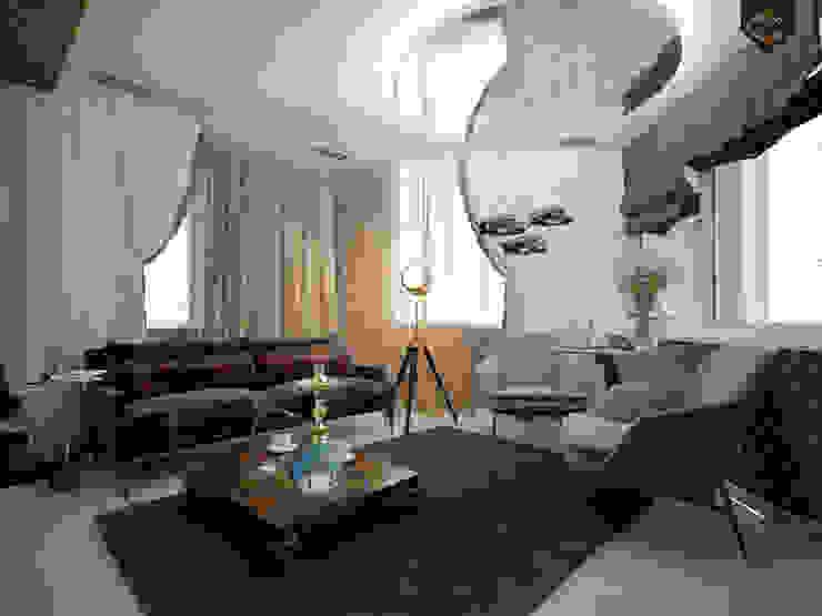 Интерпретация арт-деко Рабочий кабинет в эклектичном стиле от Decor&Design Эклектичный