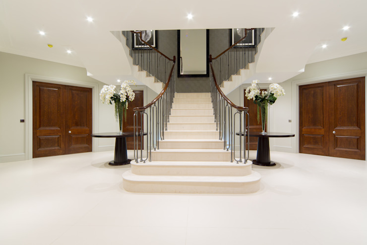 Flairlight Project 1 Oxshott, Tudor House Modern Corridor, Hallway and Staircase by Flairlight Designs Ltd Modern