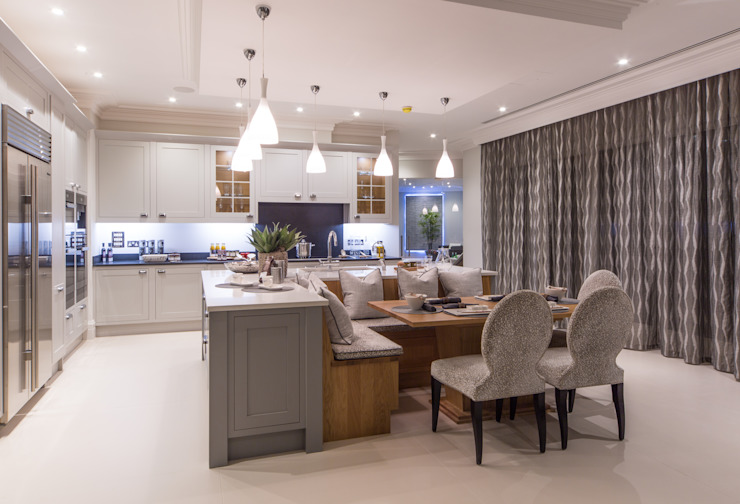 Flairlight Project 1 Oxshott, Tudor House Cuisine moderne par Flairlight Designs Ltd Moderne