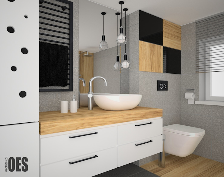 OES architekci Scandinavian style bathroom