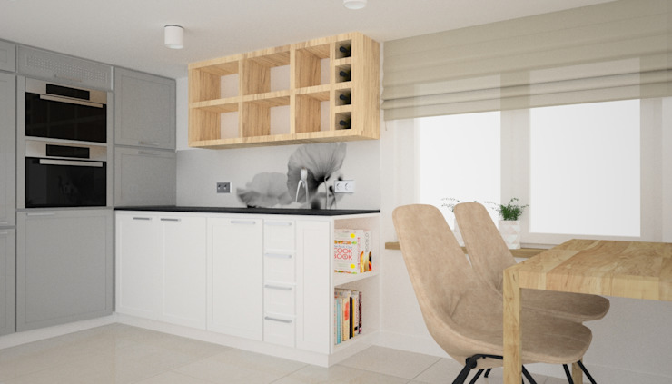 OES architekci Scandinavian style kitchen