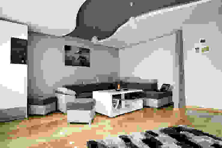 Nowoczesny salon w Chrzanowie - projekt i wykonanie www.twindesign.pl Nowoczesny salon od Bednarski - Usługi Ogólnobudowlane Nowoczesny