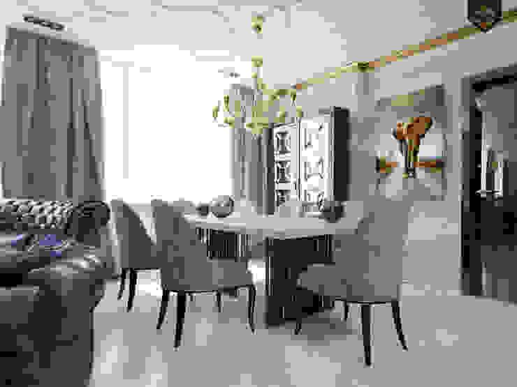 Интерпретация арт-деко Столовая комната в эклектичном стиле от Decor&Design Эклектичный