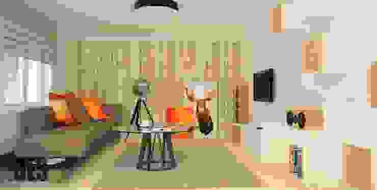 Projekt aranżacji wnętrz domu pod Krakowem 2 Nowoczesny salon od OES architekci Nowoczesny