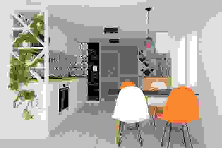 Projekt aranżacji wnętrz domu pod Krakowem 2 Nowoczesna kuchnia od OES architekci Nowoczesny