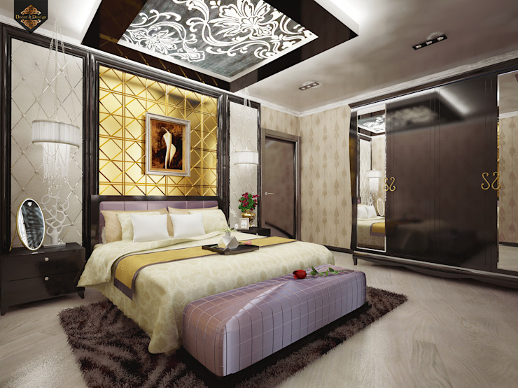Интерпретация арт-деко: Спальни в . Автор – Decor&Design,