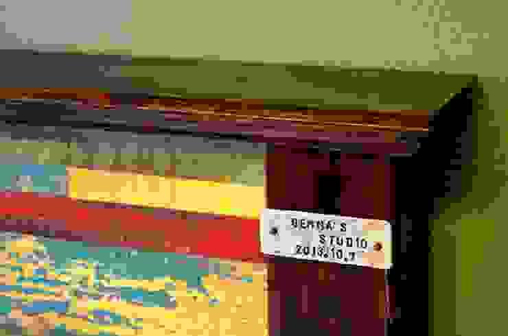 빠렛트 헤드 침대: Gemma Art Company의 인더스트리얼 ,인더스트리얼