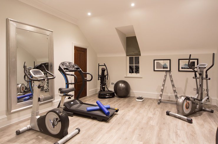 Flairlight Project 1 Oxshott, Tudor House Modern gym by Flairlight Designs Ltd Modern