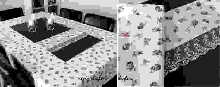 Ceviz El İşleri – Mor çiçekli masa örtüsü: modern tarz , Modern