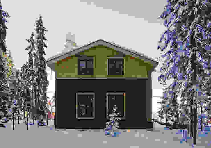 Дом в уровнях Дома в скандинавском стиле от Snegiri Architects Скандинавский
