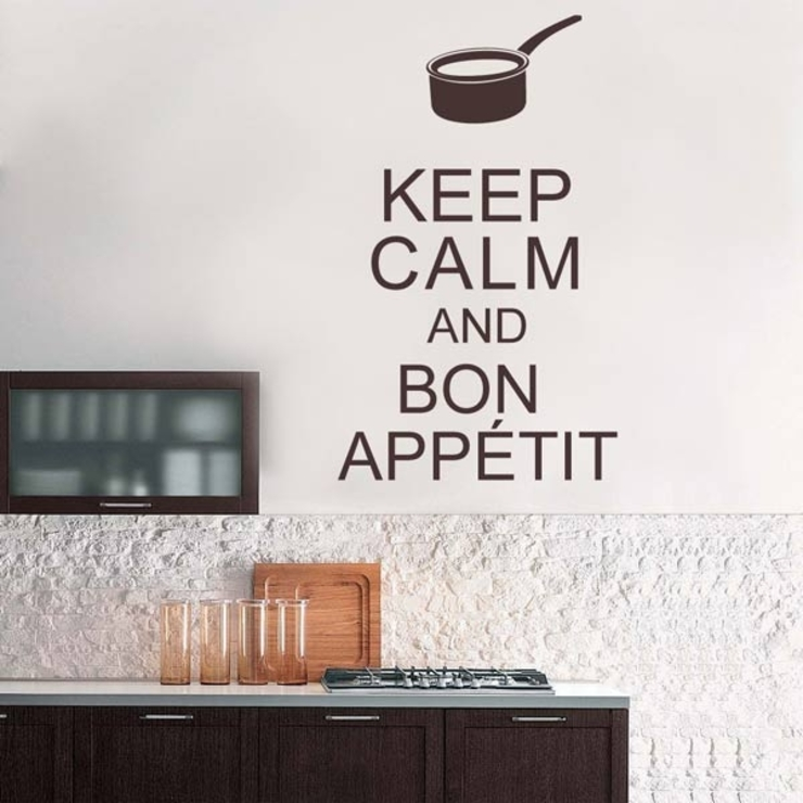 Vinilo decorativo Textos Keep Calm de Goodvinilos Moderno