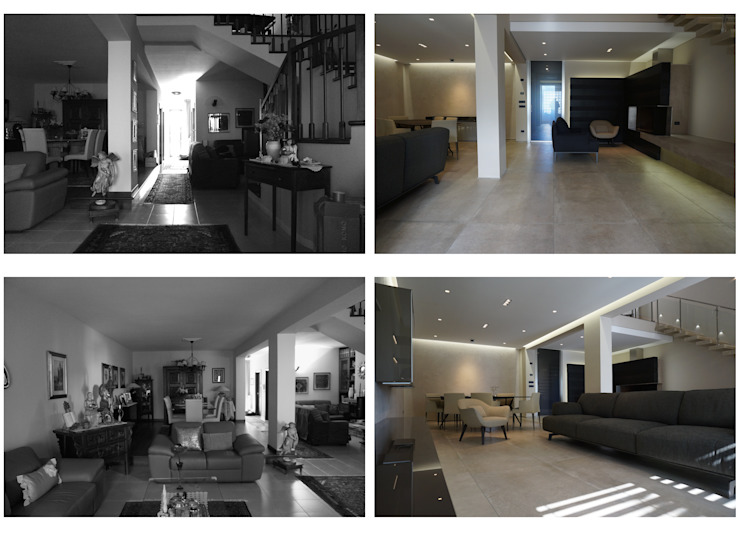 D&R apartment di Studio ARCHEXTE' _ Vincenzo Castaldi Architetto Moderno