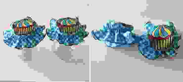 Ceviz El İşleri – Cupcake aplikeli ,turkuaz kavanoz kapağı süsü: modern tarz , Modern