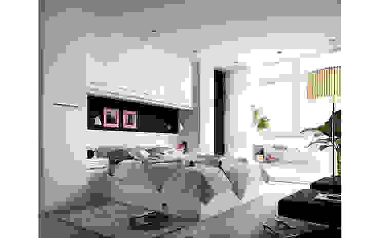 Dormitorios de matrimonio de Mueblalia Moderno