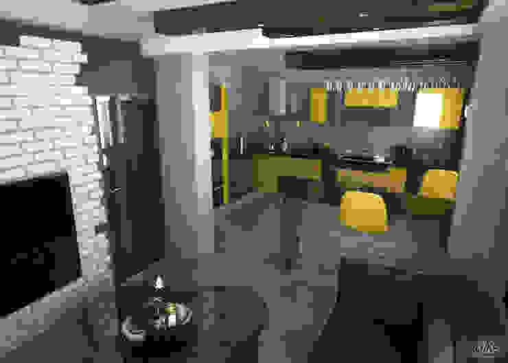 3d Proje Göreseli Modern Mutfak ROAS Mimarlık Modern