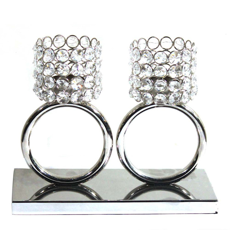 Twin Crystal Ring Tea Light Holders M4design KitchenCutlery, crockery & glassware