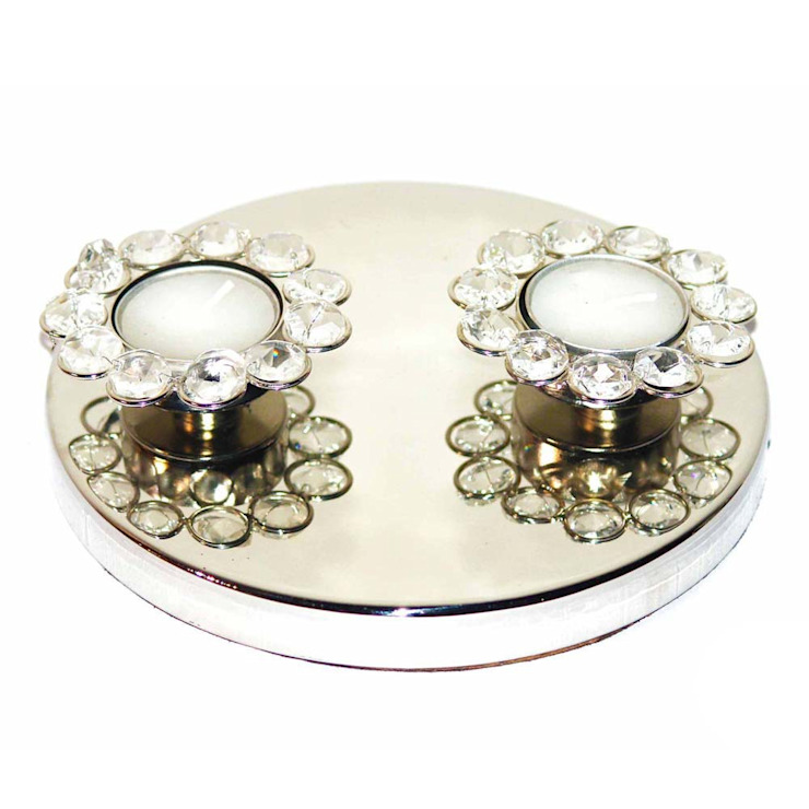 Twin Crystal Tealight Candle Holders by M4design
