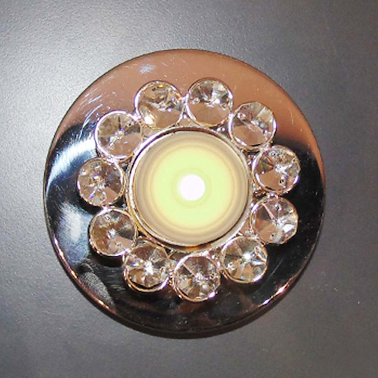 Round Crystal Floral Tealight Candle Holders by M4design