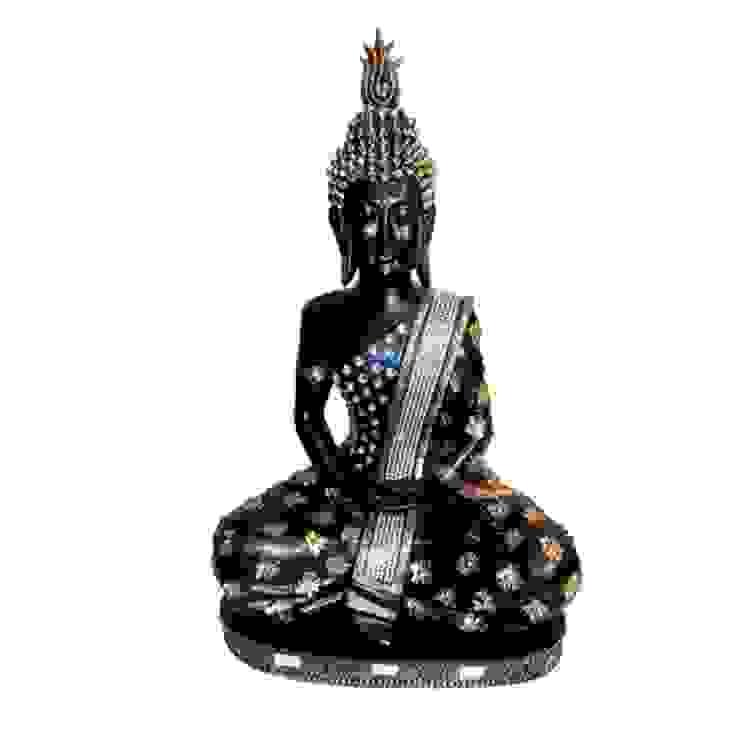 Lord Buddha Black Polystone Statue by M4design