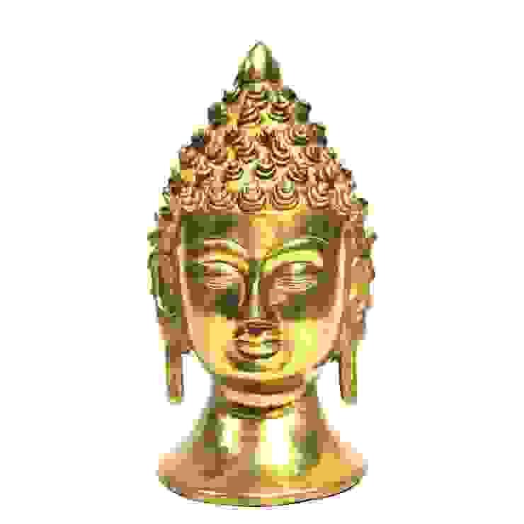 Natural Brass Buddha Head Figure: asian  by M4design,Asian