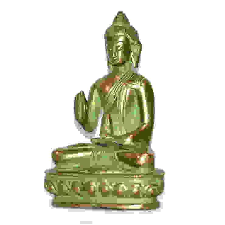 Green Brass Buddha Sculpture by M4design