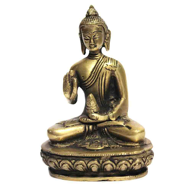 Antique Brass Buddha Meditating Scuptures by M4design