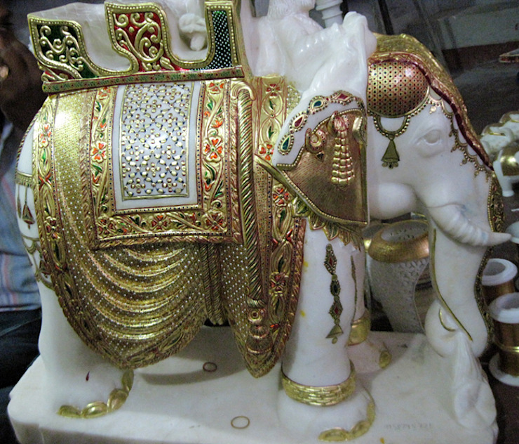 marble elephant by Marble Artifacts