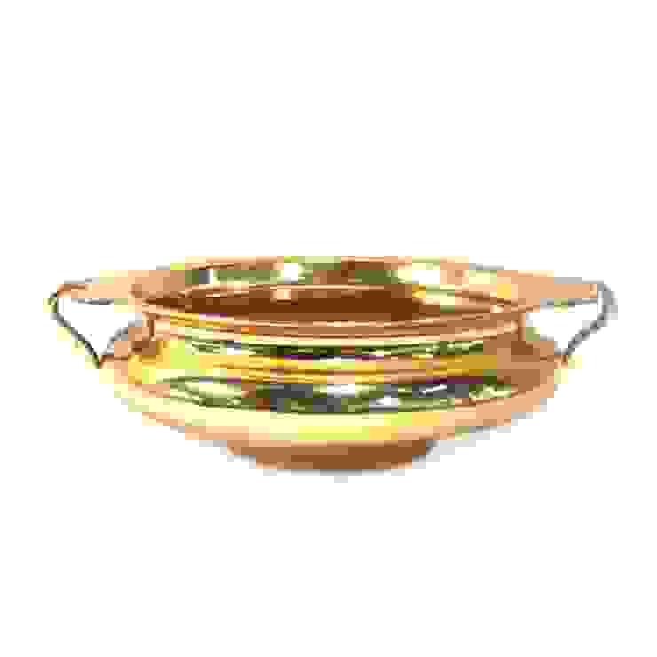 Gold Plated Brass Urli: asian  by M4design,Asian